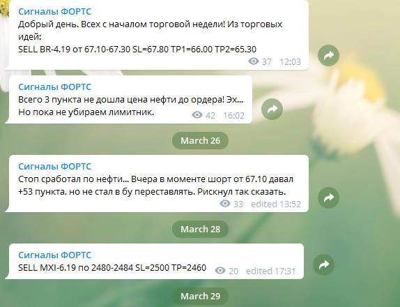Отрицательный март — итоги торговли moneyforts.ru